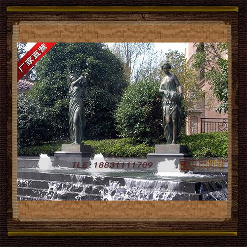 供应   地产水景欧式女铜雕塑    厂家直销
