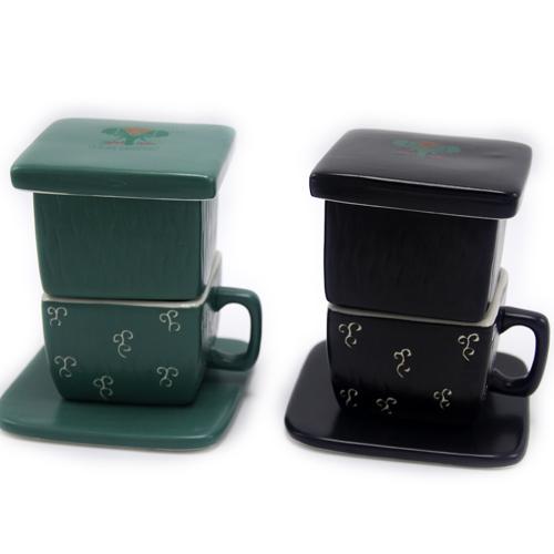 黑色咖啡杯 军绿色咖啡杯 咖啡杯咖啡滤杯 手冲咖啡