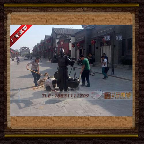 供应 街景叫卖人物铜雕塑 品牌雕塑  厂家直销