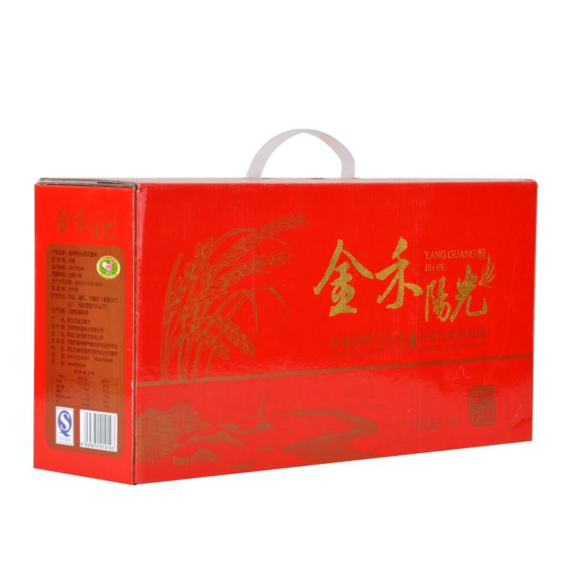 五常大米团购 东北大米 厂家批发直销 喜庆鸿运礼盒 单位团购 春节礼品 济南礼盒
