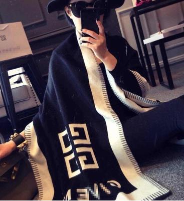 2014最新款欧洲站欧美大牌纪家G家男女通用羊毛羊绒披肩围巾