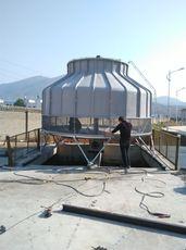 厂家供应注塑机玻璃钢逆流式冷却塔