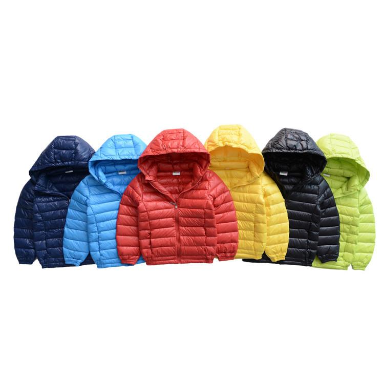 2016新款儿童轻薄羽绒服 韩版男童女童连帽羽绒外套批发 童装冬装