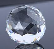 正品保障30mm40mm水晶球 机磨透明 灯饰球 水晶吊坠子diy珠帘配件