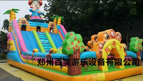 宁夏固原大型充气滑梯,儿童充气城堡专业生产厂家