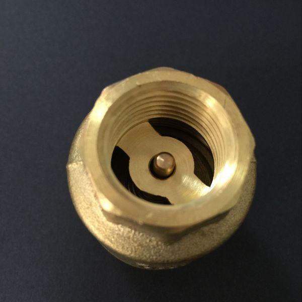 杰克龙国标丝口内螺纹黄铜立式止回阀 垂直弹簧锻造止回阀图片