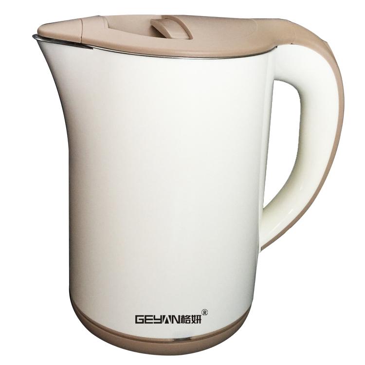 格妍电热水壶防烫双层保温高品质电水壶快速烧开水壶1.2升小家电