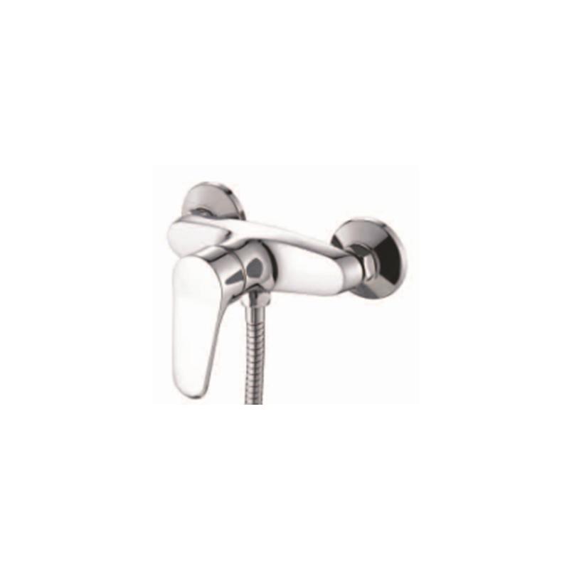 全铜 淋浴龙头 三联浴缸龙头 沐浴冷热水龙头混水阀花洒套装 52201图片