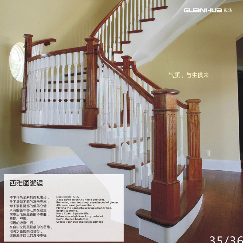 浏阳实木楼梯楼梯扶手效果图 供应实木楼梯 别墅楼梯 楼梯立柱图片