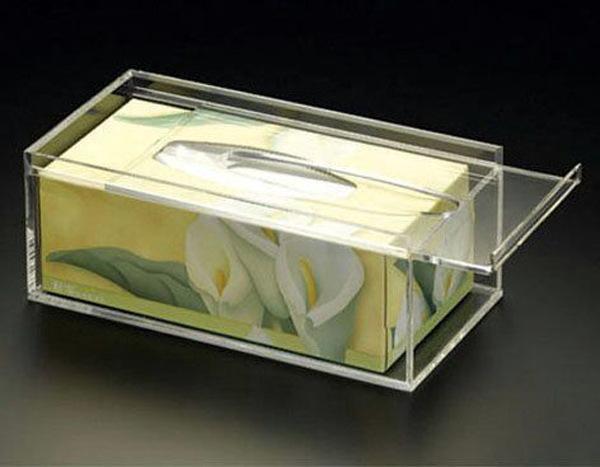 亚克力餐巾纸盒 透明抽纸盒 **亚克力纸巾盒 有机玻璃透明纸盒