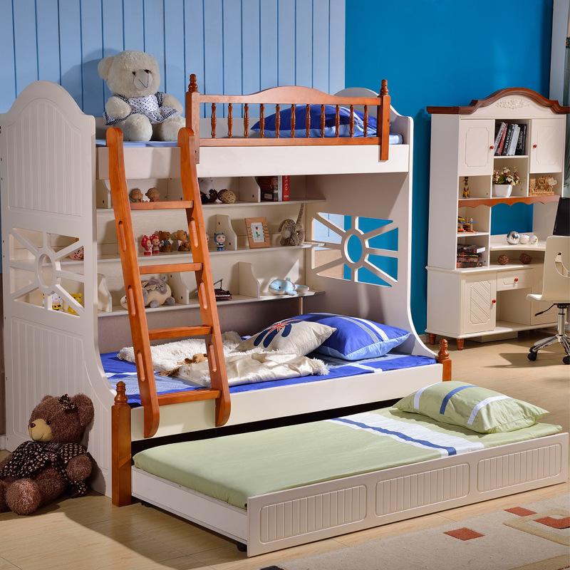 上下床高低床双层床v上下上下床储物子母床儿童家具别墅梯桂园华南碧儿童租图片