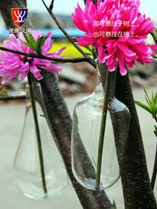 雅雅玻璃-水晶透明玻璃花 瓶型 壁挂式创意插花工艺品V11024-B