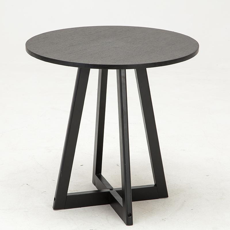 欧式田园实木茶几简约创意家具小圆桌茶几客厅休闲阳台小桌子