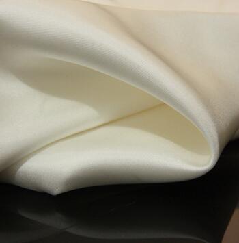 供应 16mm/114cm门幅真丝斜纹绸白色面料细斜纹100%桑蚕丝