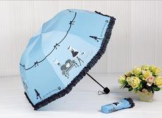供应 钢琴美女晴雨伞创意韩国公主伞折叠伞阿波罗蘑菇伞