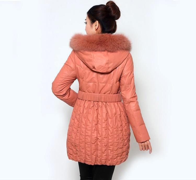 厂家供应中长款皮羽绒服 女装春款热销新品欧美女式外套女士真皮