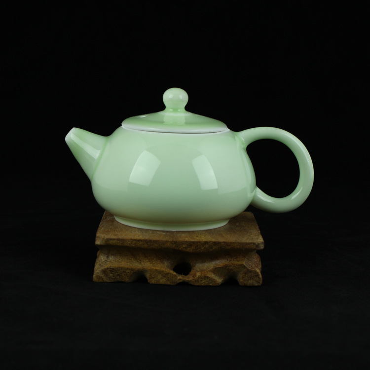 盖碗茶杯 茶碗茶具 青瓷陶瓷品茗杯泡茶器 青瓷薄胎茶具