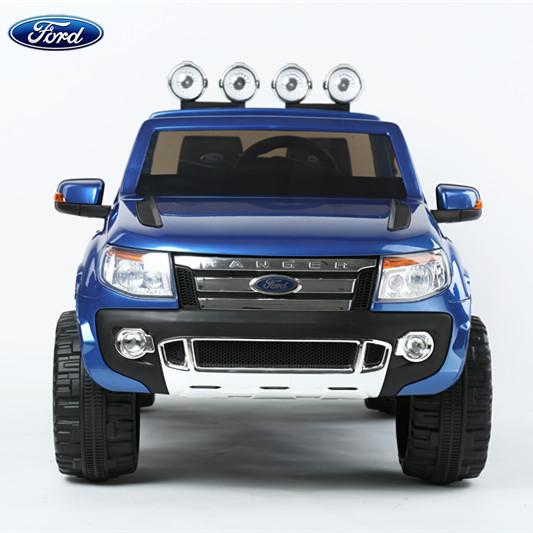 福特皮卡车儿童电动车童车双座四轮遥控汽车玩具车可坐双驱越野车