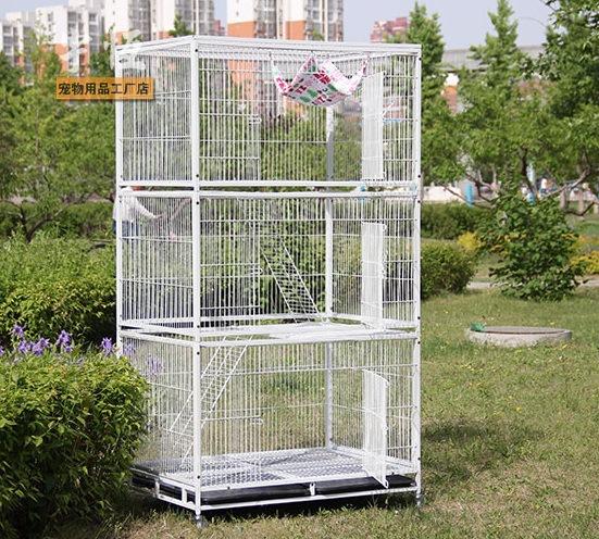 厂家批发寄养猫笼三层猫笼猫别墅超结实笼子宠物笼具