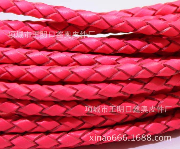 【厂家供应】编织牛皮绳彩色编织绳环保编织绳