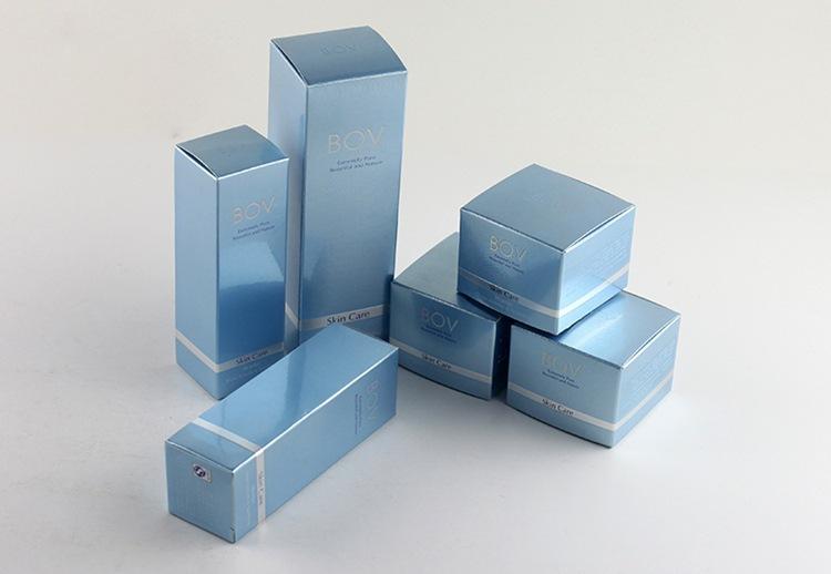 厂家定做韩国化妆品包装彩盒子 彩妆外包装镭射金卡纸包装盒 彩印图片