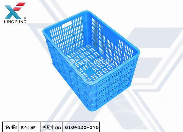 海口兴丰塑胶厂家直销便宜塑料筐 出口周转箩 水口料箩筐
