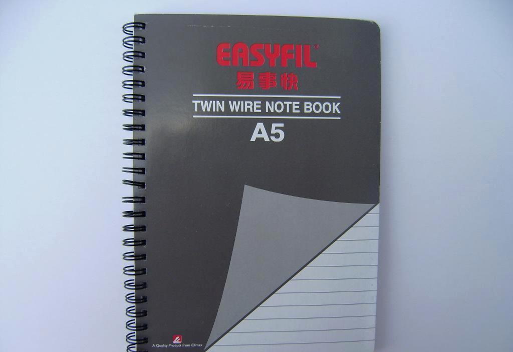 易事快A5x80页灰色双线圈笔记本