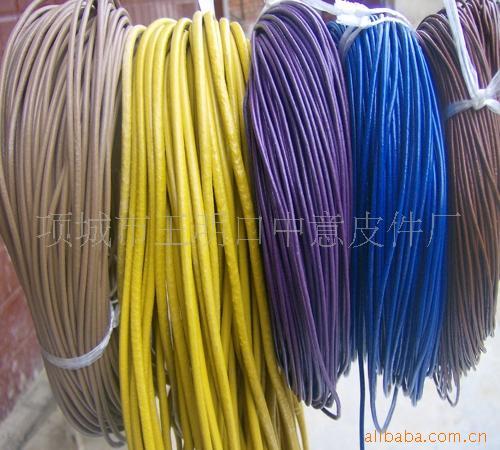 牛皮绳真皮绳环保皮绳牛皮鞋带牛皮条编织皮
