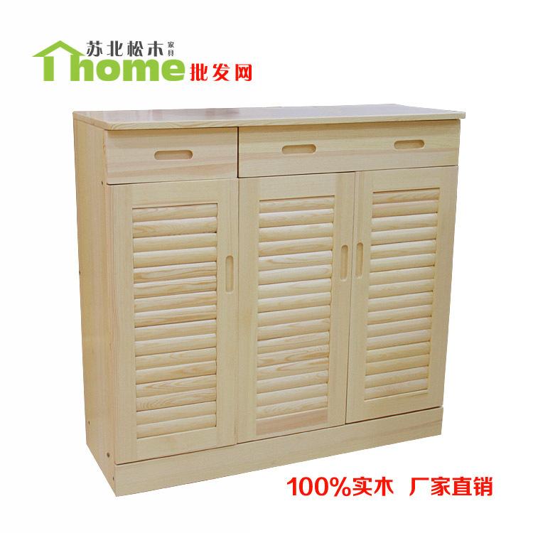 厂家直销进口AA级樟子松木鞋柜全实木松木家具客厅卧室必备可批发