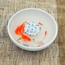 专业供应纯手工陶瓷立体金鱼香插 手绘五彩大鱼时尚立体香插批发
