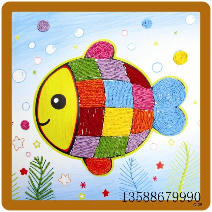 儿童diy纽扣画 手工制作扣子画 立体粘贴画 幼儿园材料包 益智