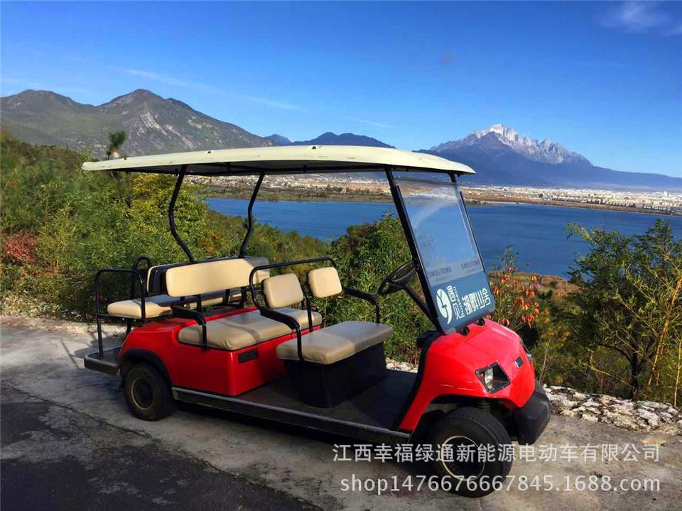 吉安景区电动旅游观光车幸福绿通六人座电动高尔夫球车观光车