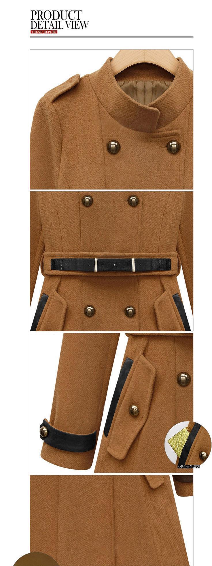 2013秋季新款时尚英伦外套 修身大码女装毛呢大衣 外套批发厂家