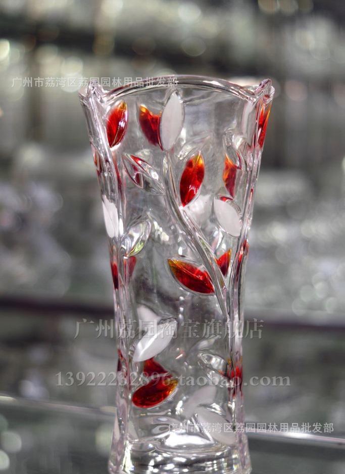 供应玻璃花瓶 树叶花瓶 水晶经典款式