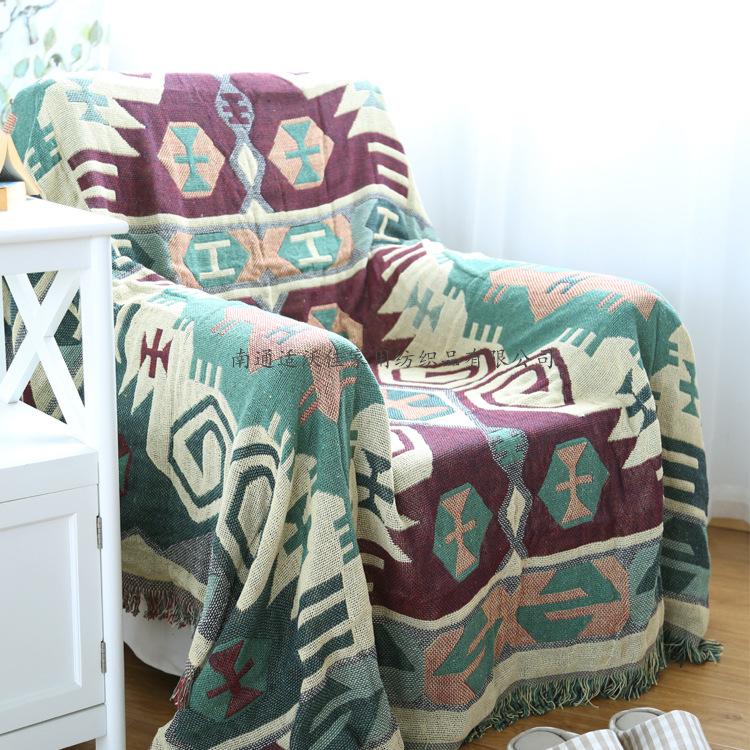日式无印纯棉水洗棉中格子四件套被套床笠1.5 1.8米双人床品套件