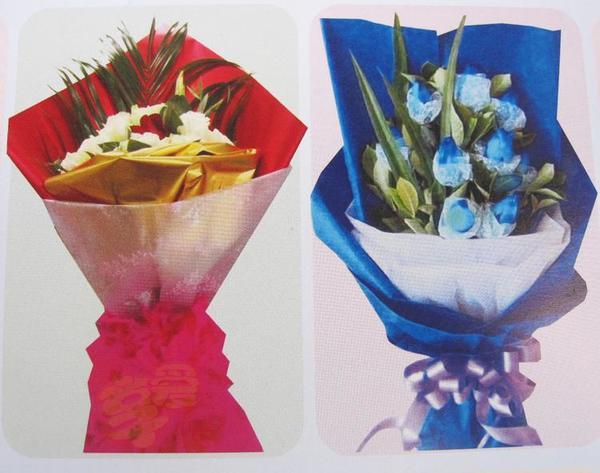 礼品铂金纸玻璃纸彩色包装纸鲜花包装纸鲜花包装材料led手腕带声控图片