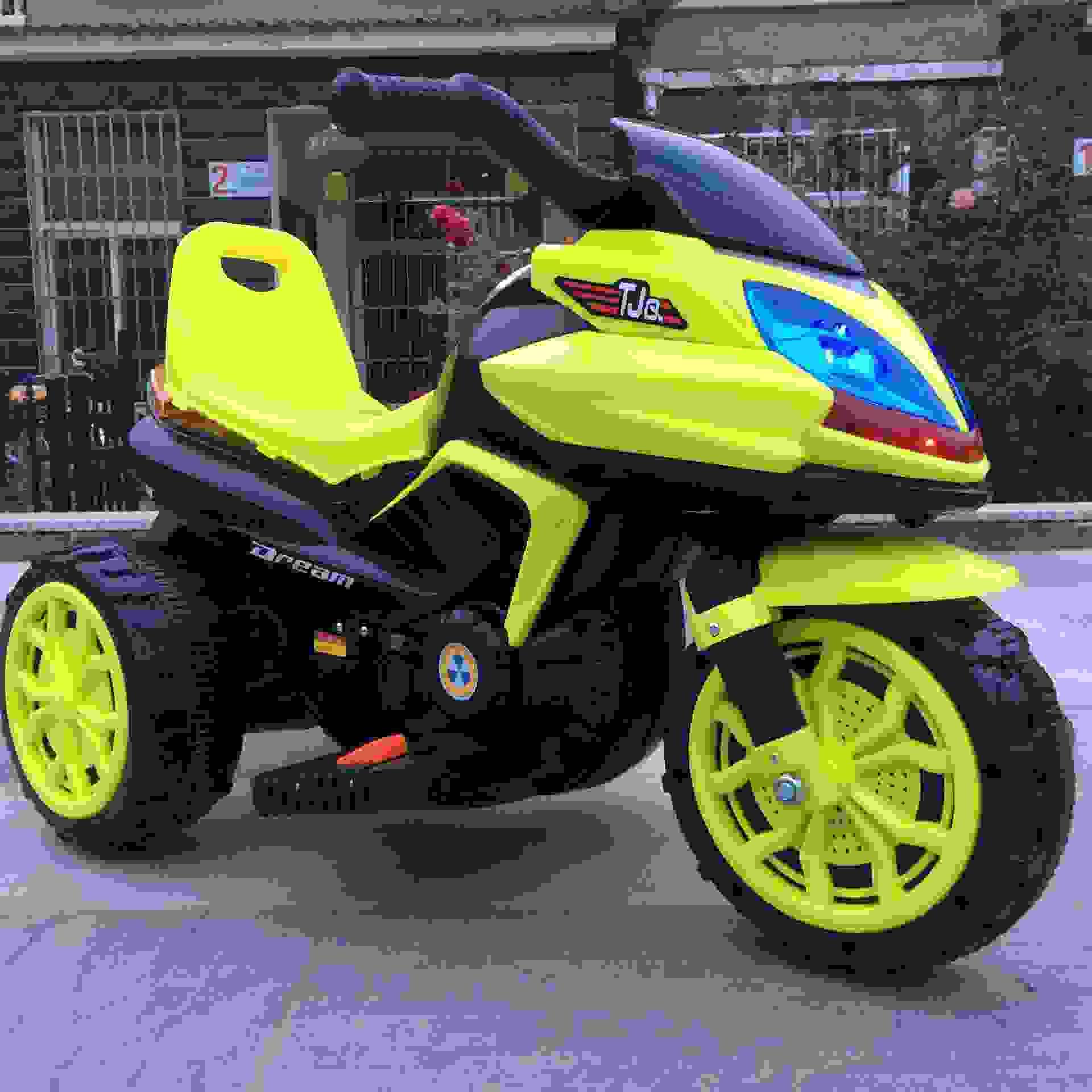 新款宝马儿童电动摩托车大号宝宝充电三轮摩托车小孩电动童车出口
