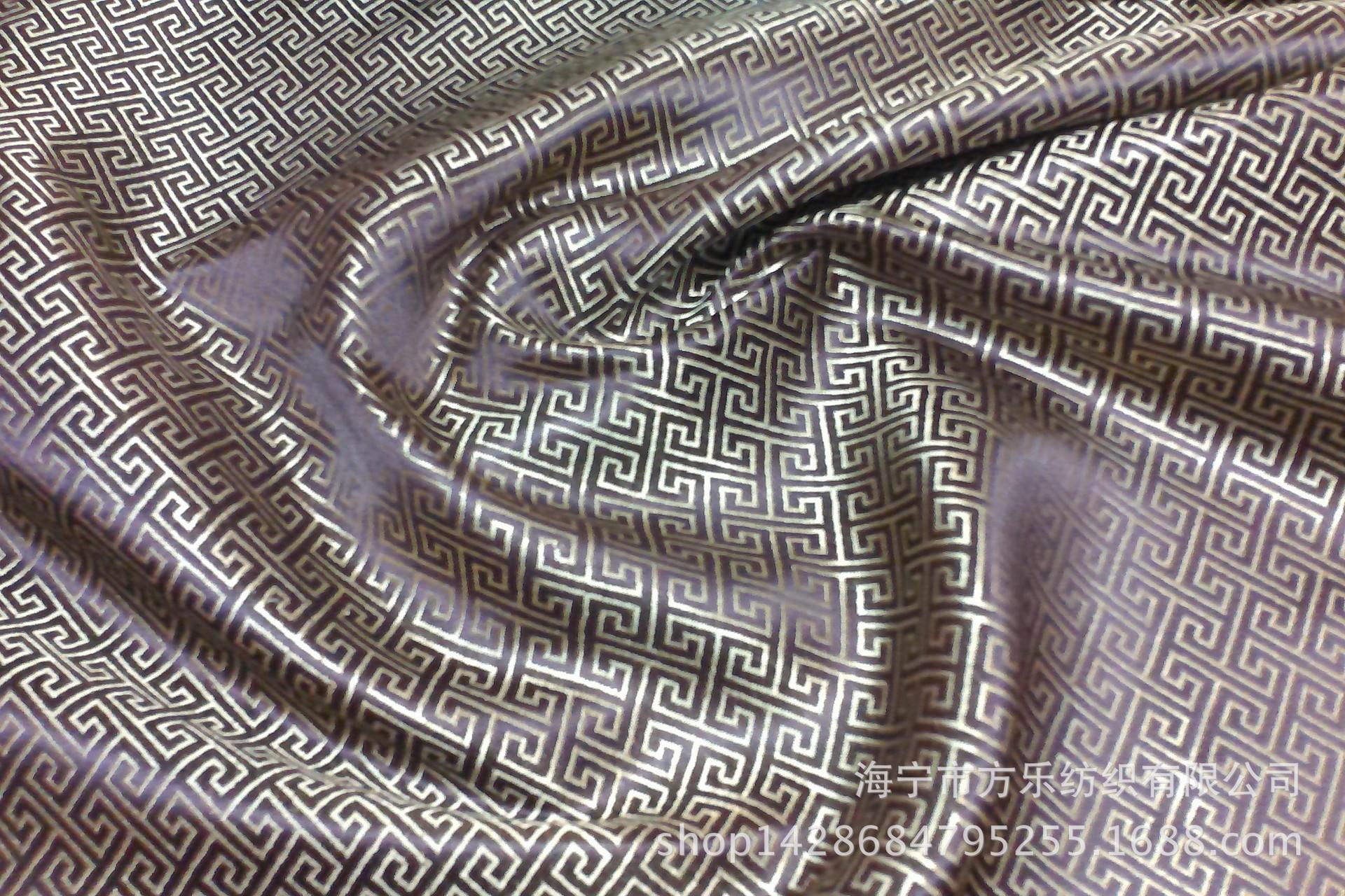 长城格 供应尼龙织锦缎面料 唐装旗袍靠垫包装等丝绸