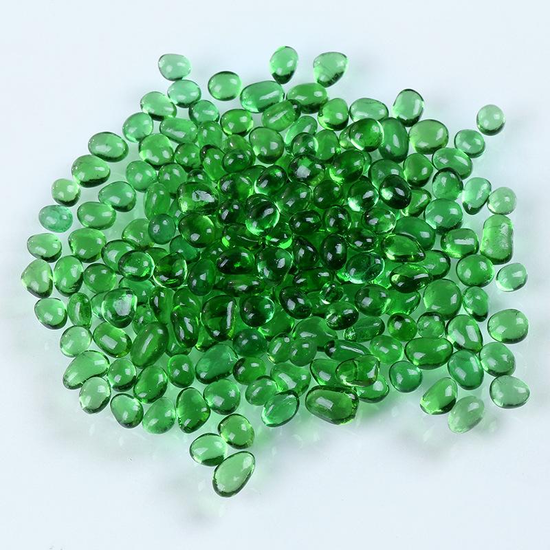 彩色蔬�:i��i-_彩色石头天然冰海蓝玻璃砂鱼缸造景园艺石子i装饰底砂玻璃珠水晶