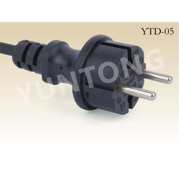 专业供应 欧标防水两芯圆插 防水插头 优质乔普两芯插头YTD-05