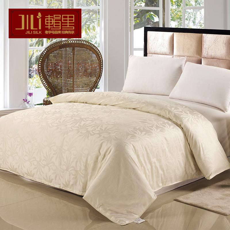 辑里春秋高密度提花纯棉被套单件 全棉60支 密度173x120 可定制