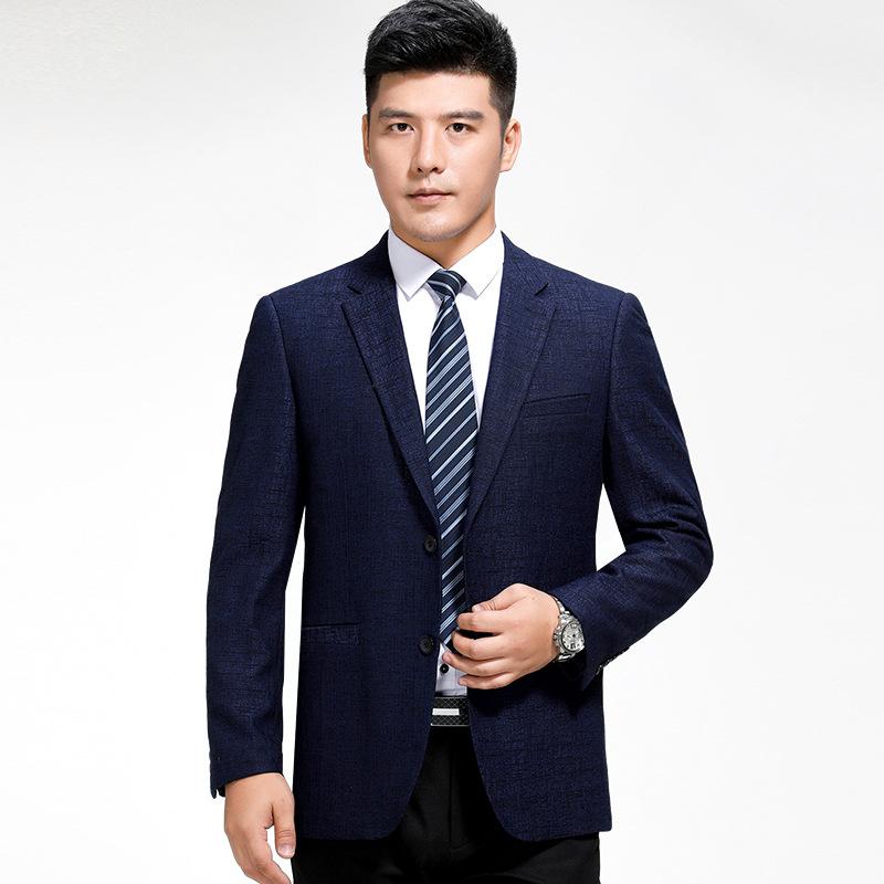2017秋装新款男士休闲单西服外套男免烫西装单件中年正装单西上衣