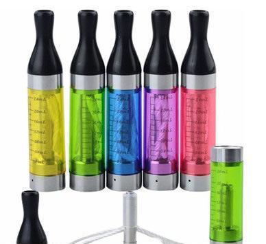 厂家批发 电子烟雾化器T2 可拆卸换芯 彩色透明刻度电子烟烟嘴