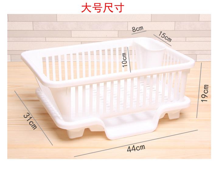 创意碗筷厨房大号v碗筷架沥水塑料扫描碗盆收设备安检滴水图片