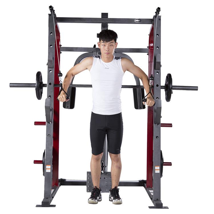 史密斯机杠铃卧推架深蹲家用多功能大型健身器械龙门架综合训练