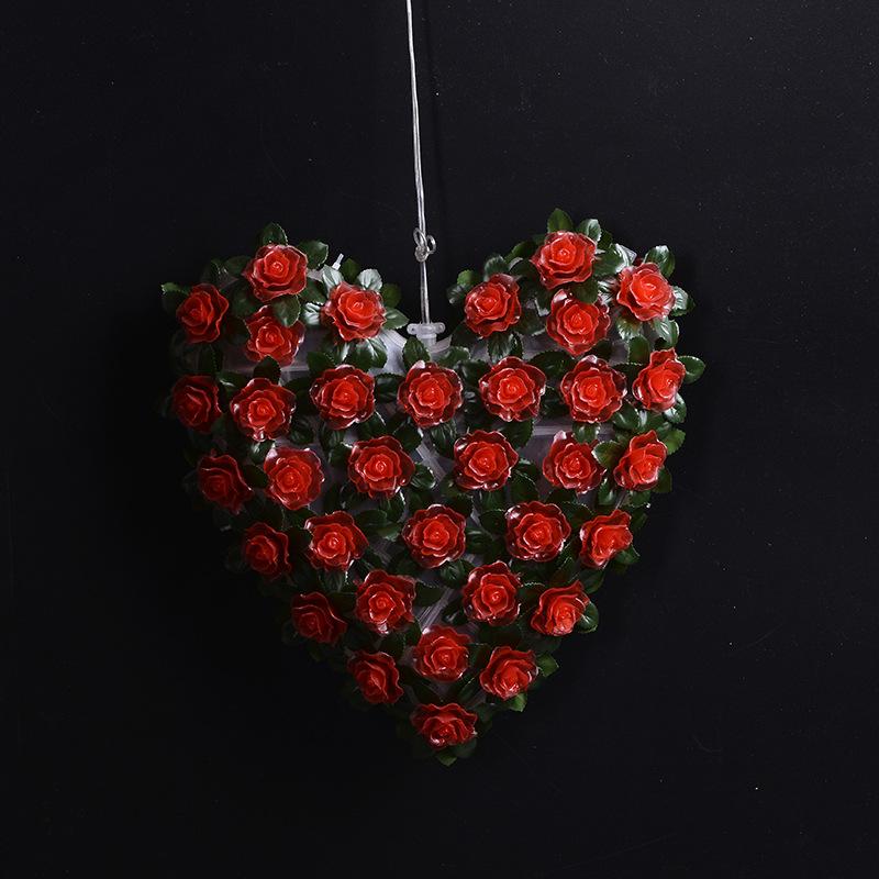 玫瑰花田园风布艺卧室床头灯创意时尚结婚婚庆新房浪漫装饰图片