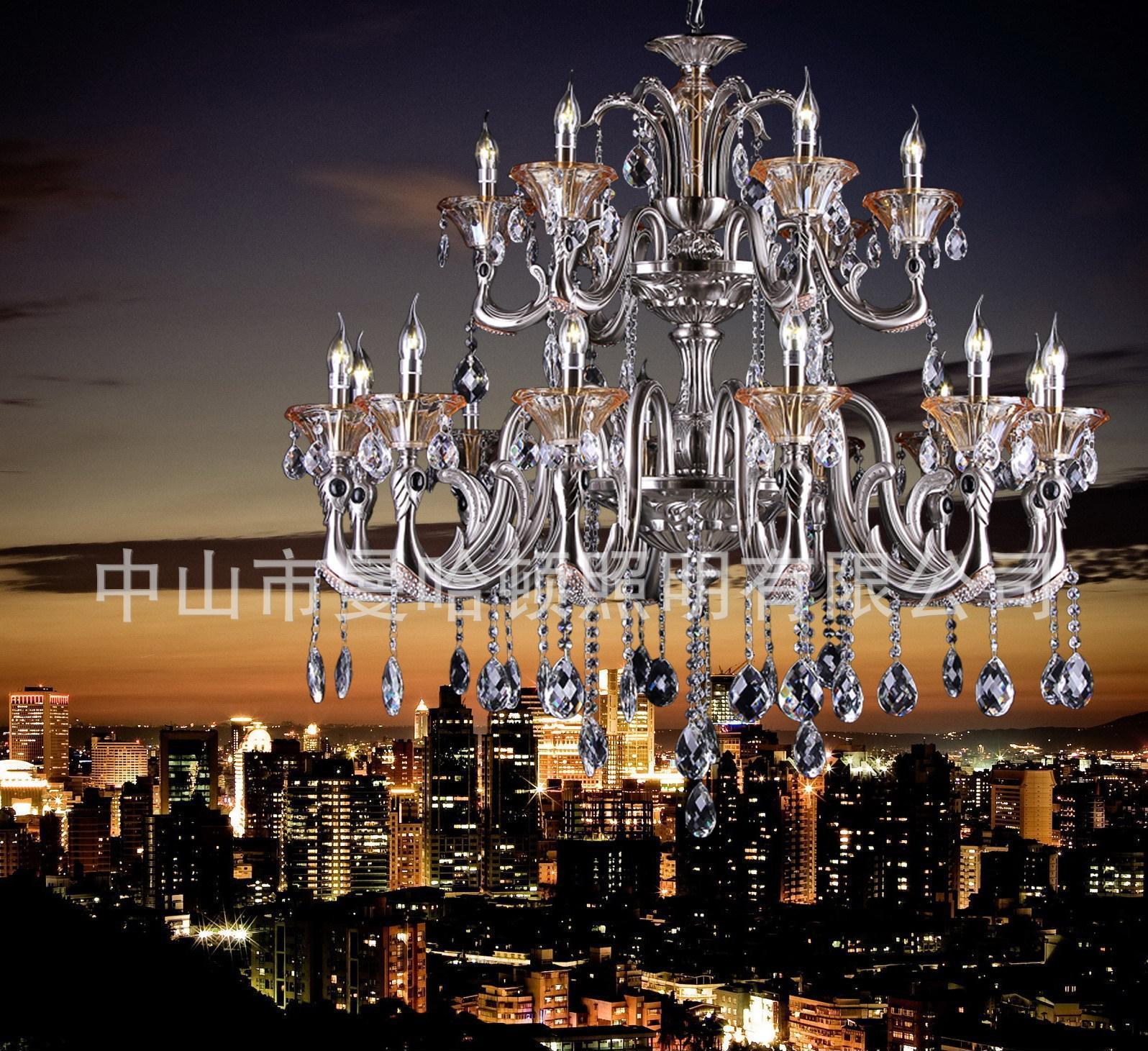 供应优质现代欧式水晶吊灯蜡烛水晶灯 卧室客厅吊饰灯7002