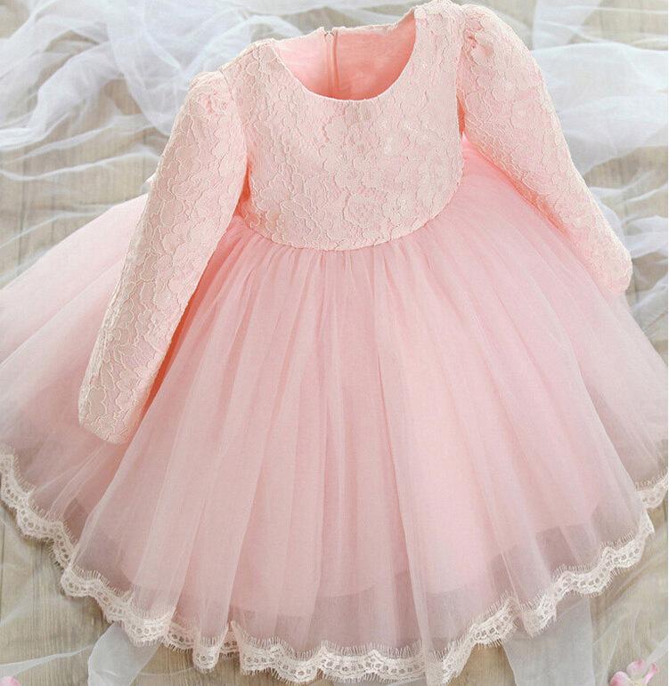 花童礼服儿童礼服裙秋女童长袖公主裙蓬蓬裙童装连衣裙夏婚礼婚纱