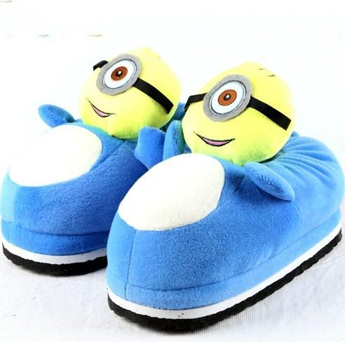 新款韩版卡通棉拖鞋 冬季保暖卡通拖鞋 创意毛拖鞋 包跟加厚鞋子图片