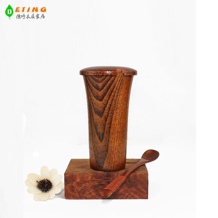 供应 木杯子带盖的高反边杯子酸枣木实木制作 带盖杯批发正品商家